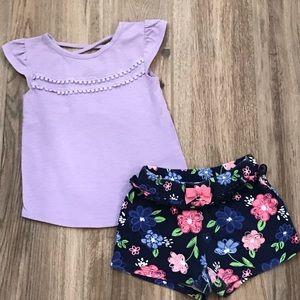 Gymboree Floral Short Set 3T